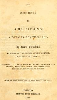 An Address to Americans (1841)