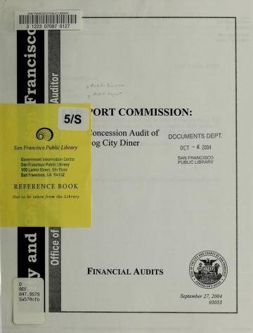 Port Commission by San Francisco (Calif.). Office of the Controller. City Services Auditor Division.