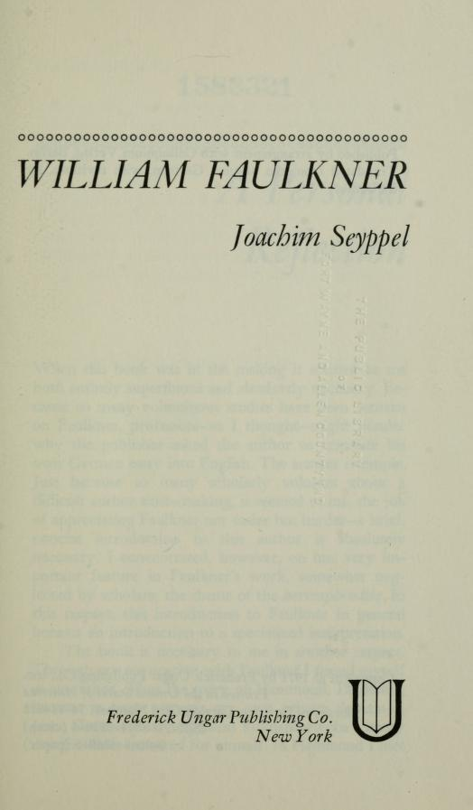 William Faulkner by Joachim Seyppel
